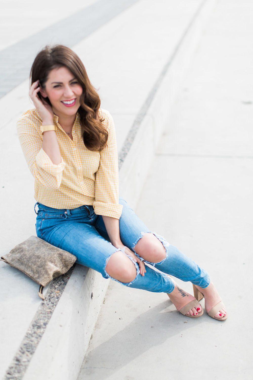 Jillian Harris - Gingham Trend