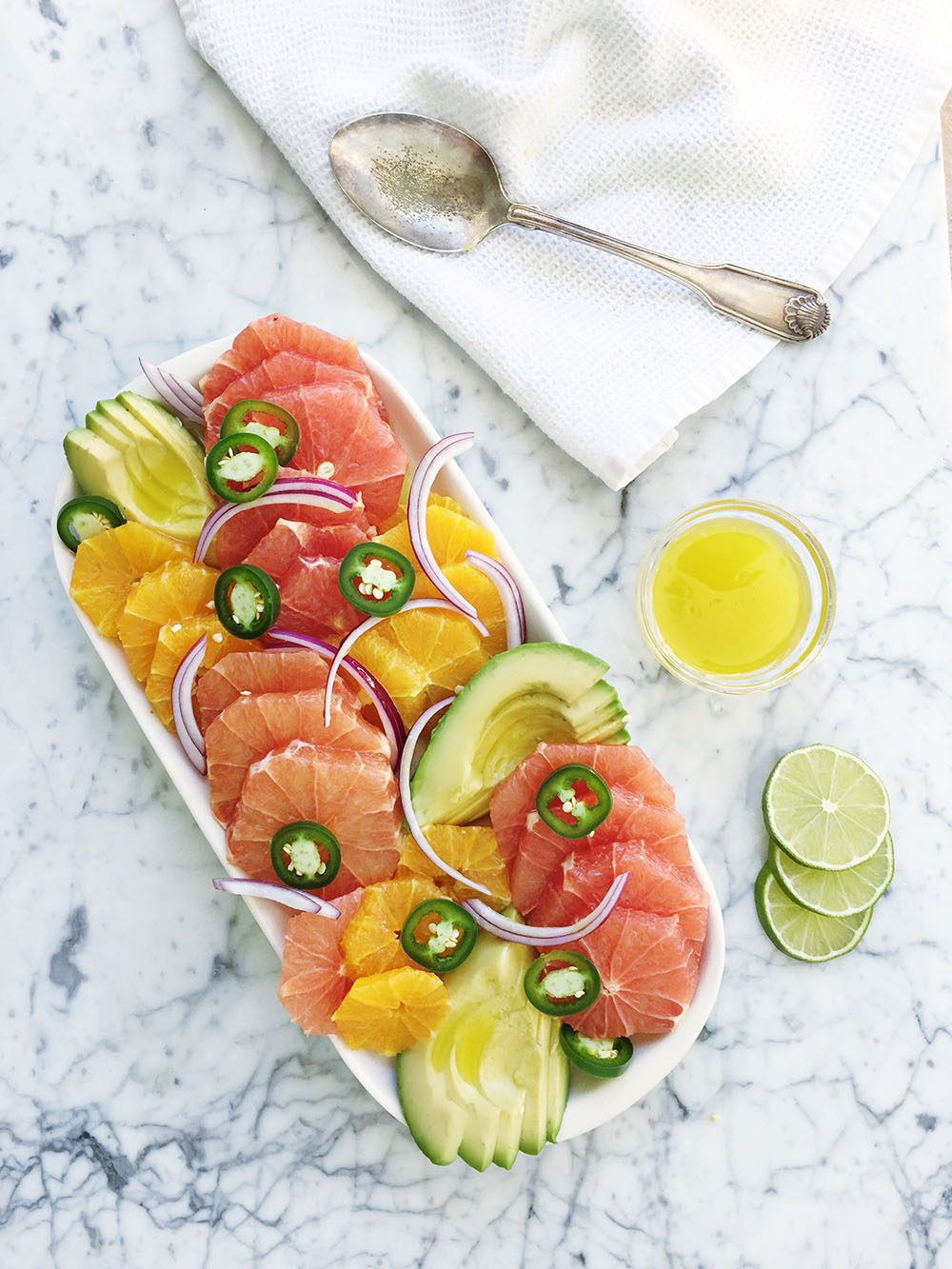Jillian Harris and Fraiche Nutrition Avocado Grapefruit Salad