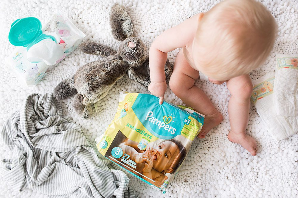 Jillian Harris and Leo with Pampers