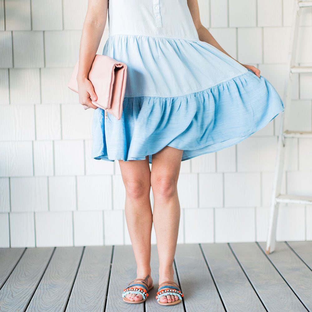 Jillian Harris wearing a summer dress from Nordstrom