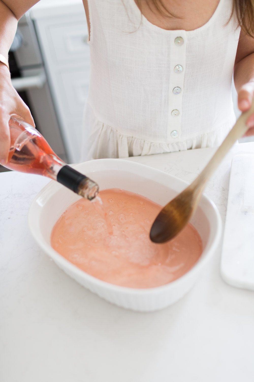 How to make Lavender Rosé Slush
