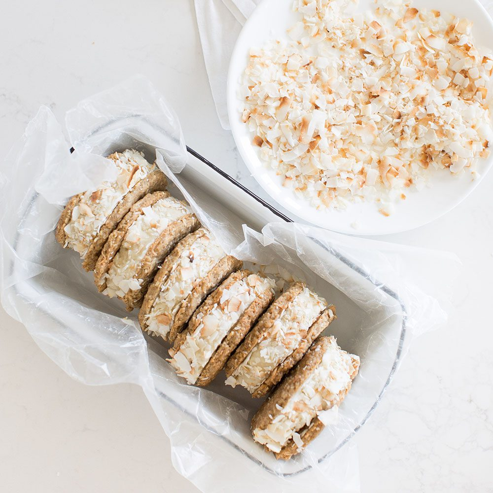 Jillian Harris and Fraiche Nutrition Tropical Ice Cream Sandwiches Vegan