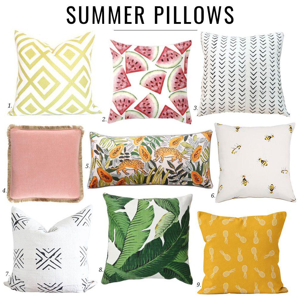 Jillian Harris Summer Pillows