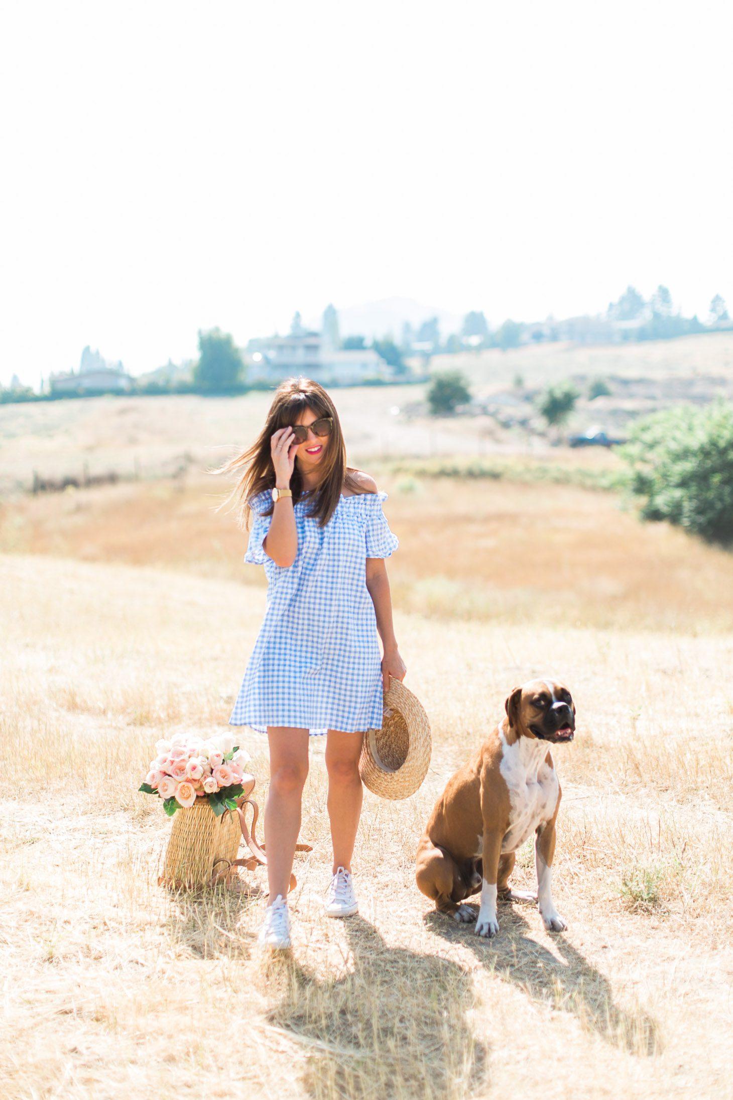 Jillian Harris Nordstrom Gingham Dress