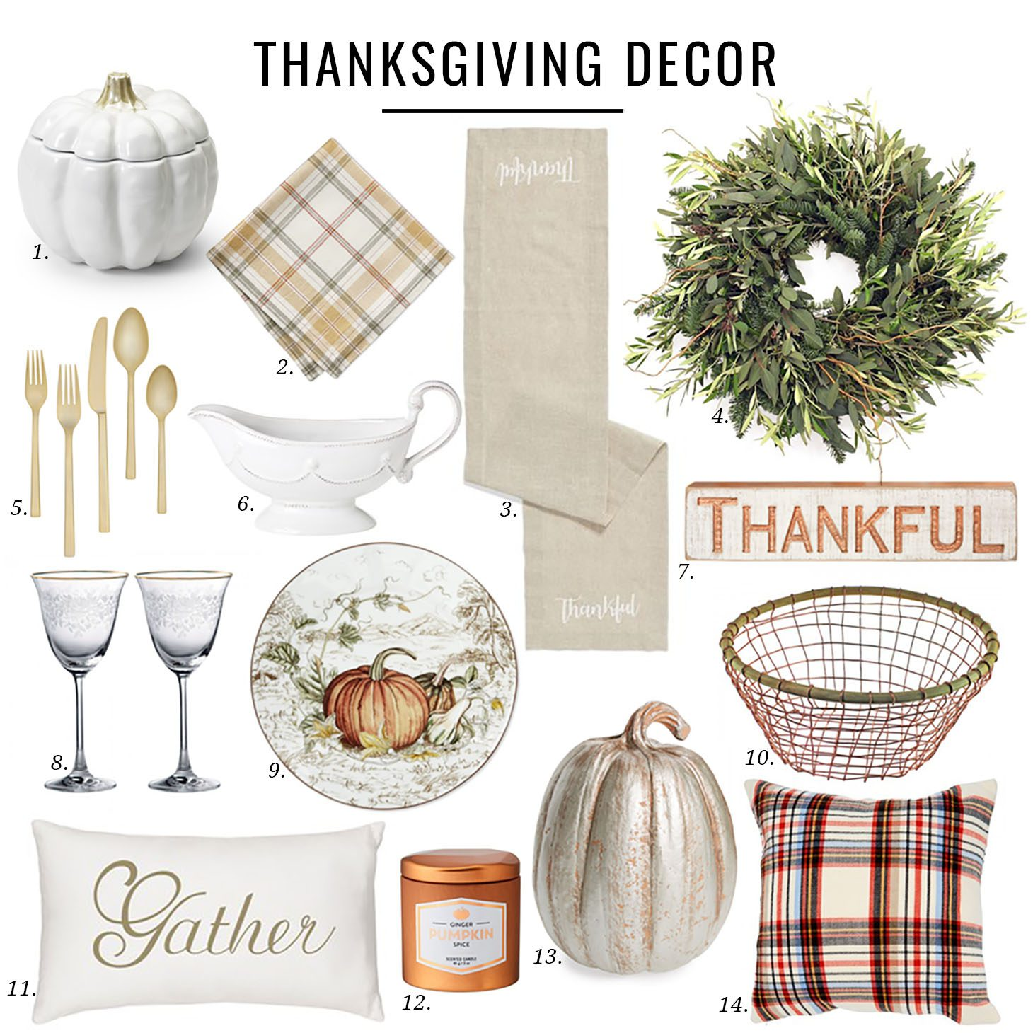 Jillian Harris Thanksgiving Decor