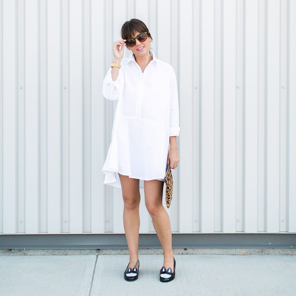 Jillian Harris Urban Outfitters White Dress