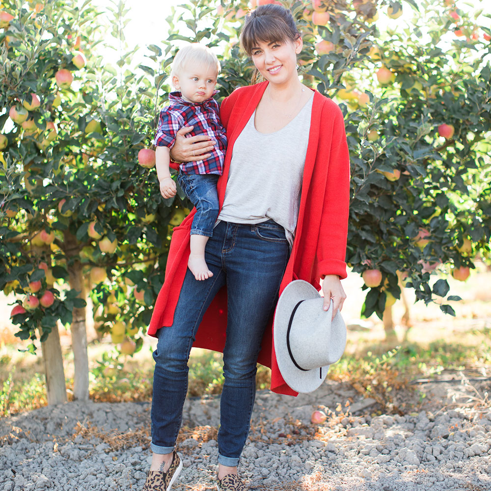 Jillian Harris and Leo Apple Picking