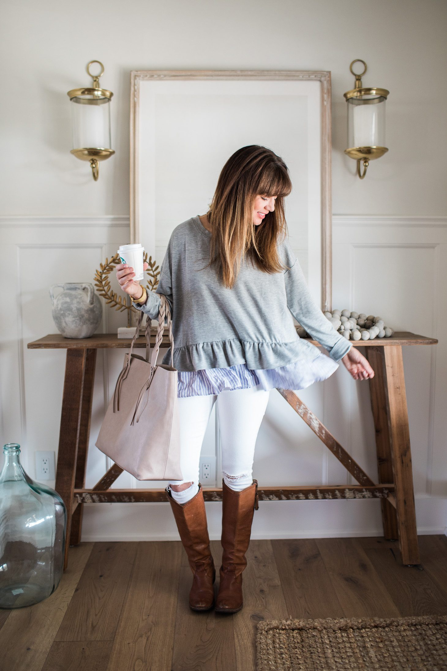 Jillian Harris Nordstrom Ruffled Sweater