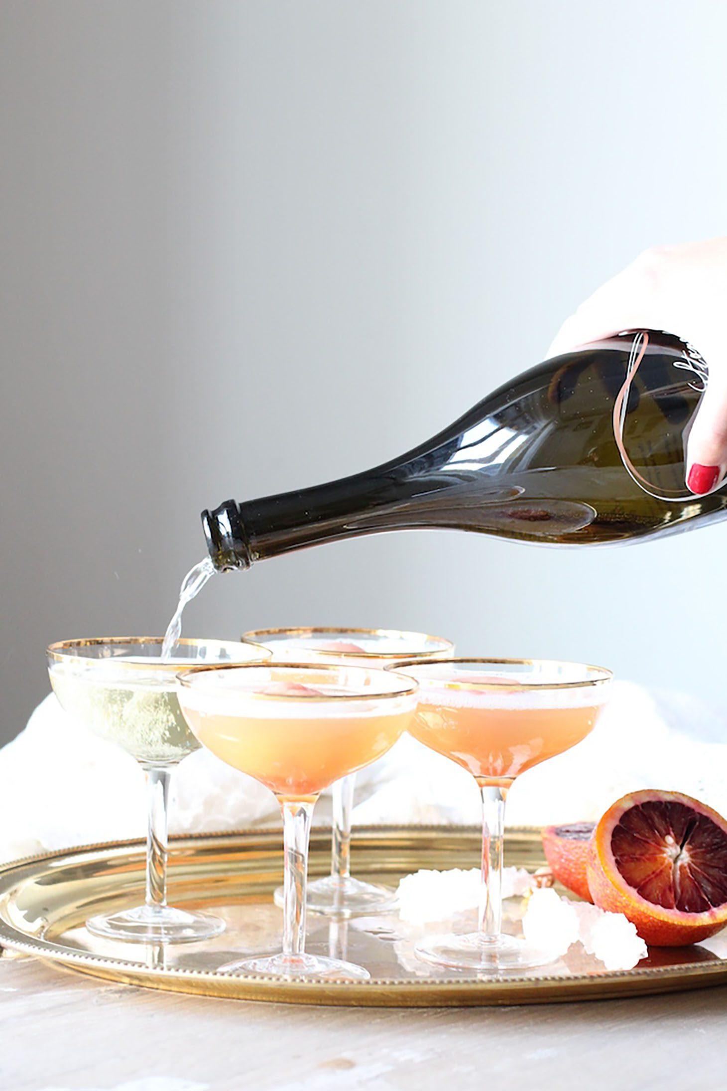 Jillian Harris Blood Orange Champagne Floats