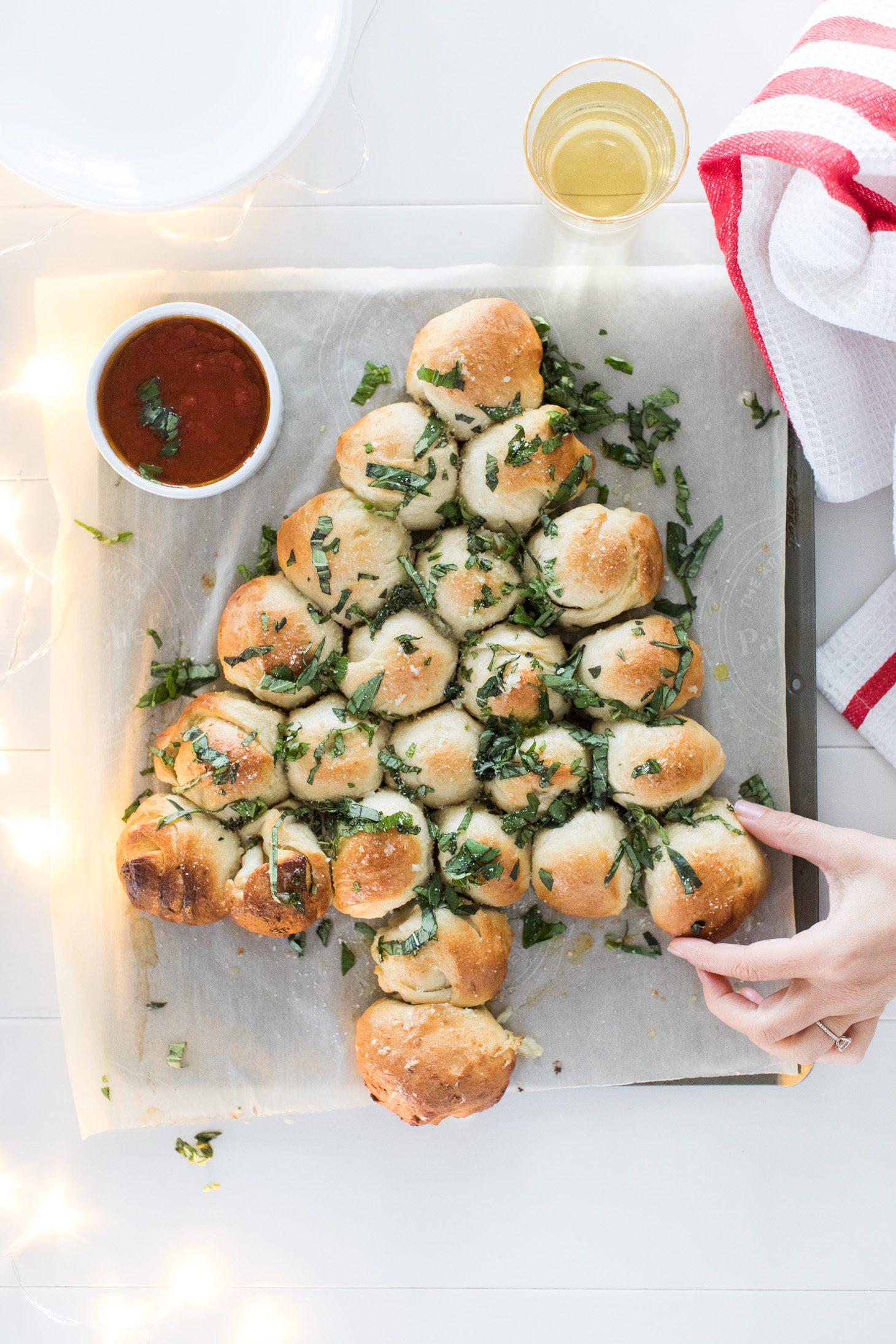 Jillian Harris Christmas Tree Cheesy Bread