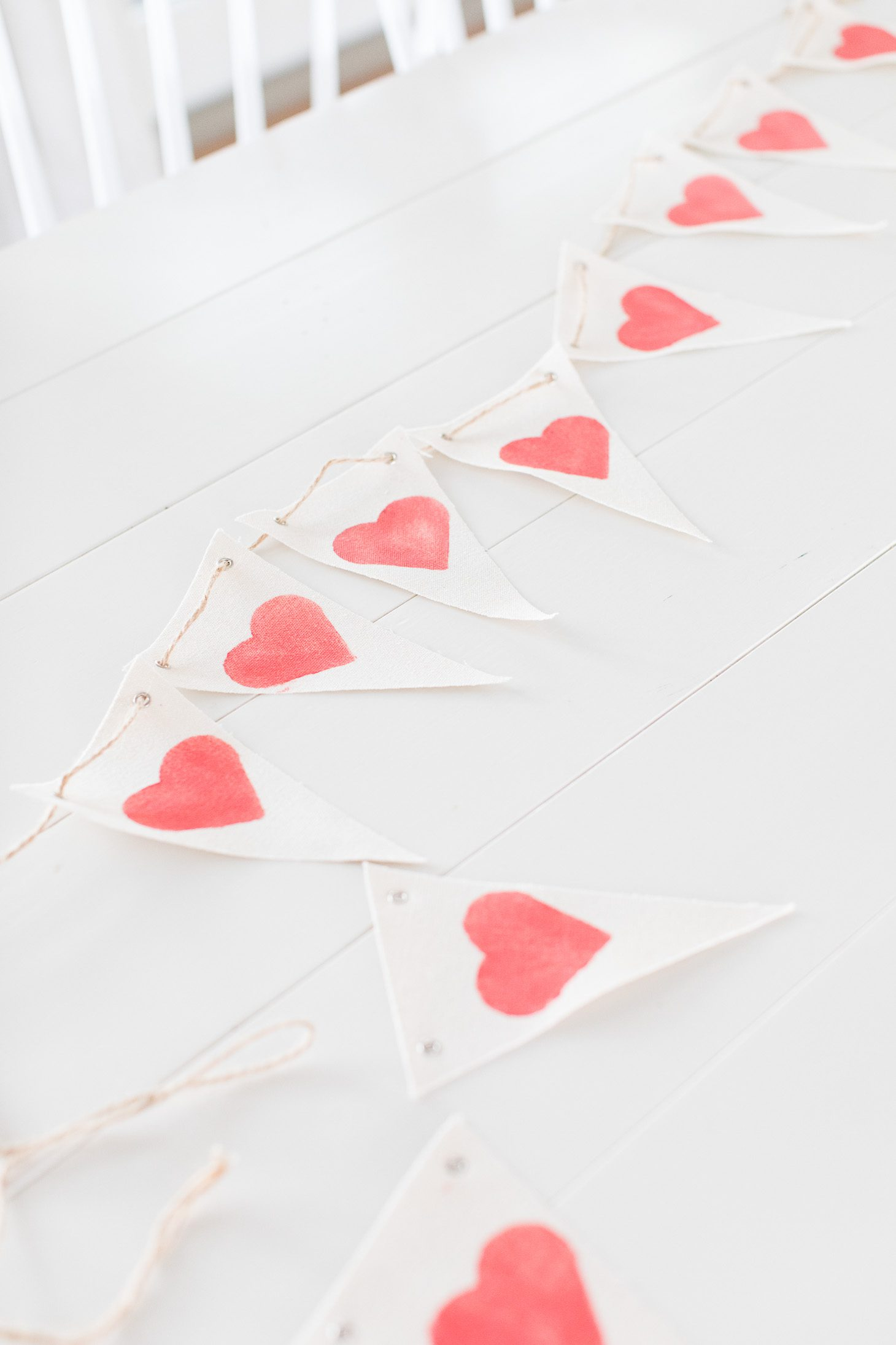 Jillian Harris Valentine's Day Heart Banner DIY