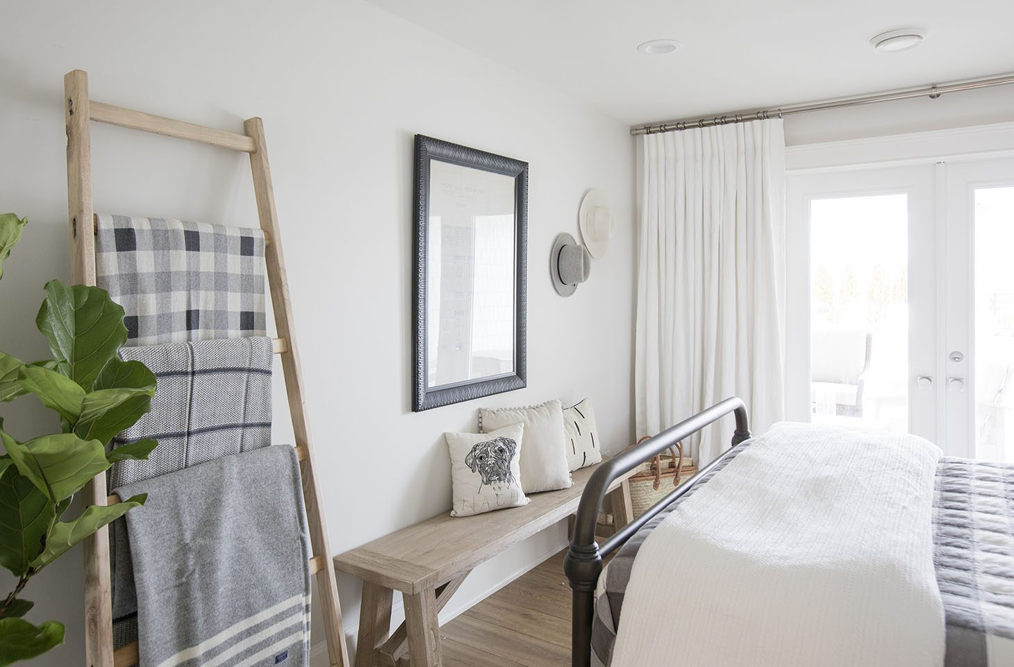 Jillian Harris Home Tour Series Spare Bathroom and Bedroom