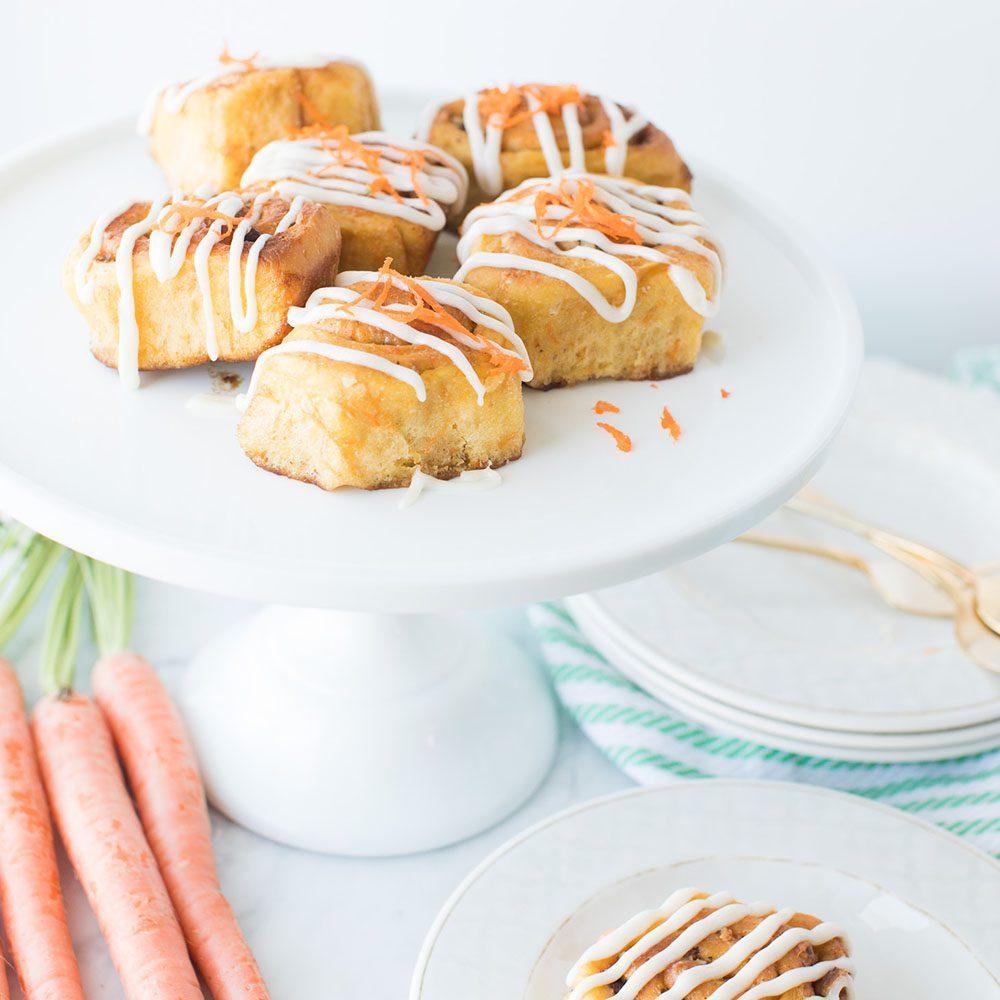 Vegan Maple Carrot Cake Cinnamon Buns