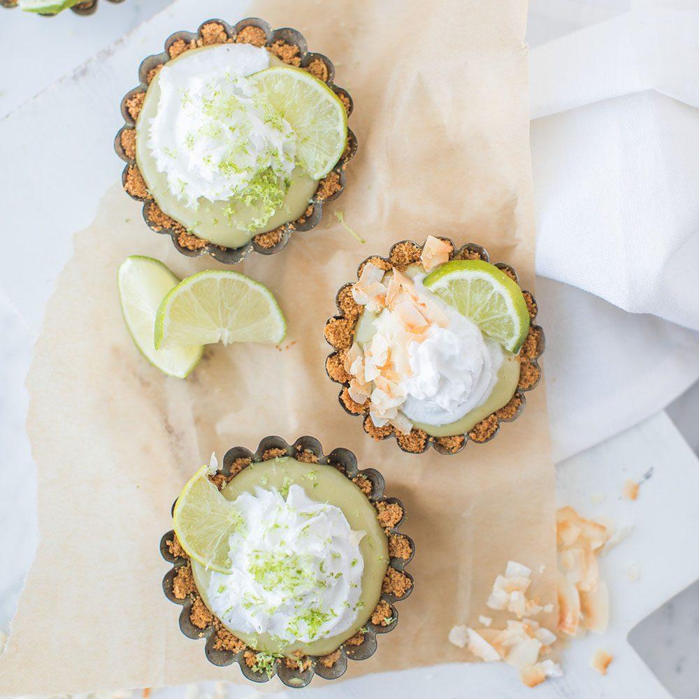 Vegan Shamrock Coconut Key Lime Tartlets