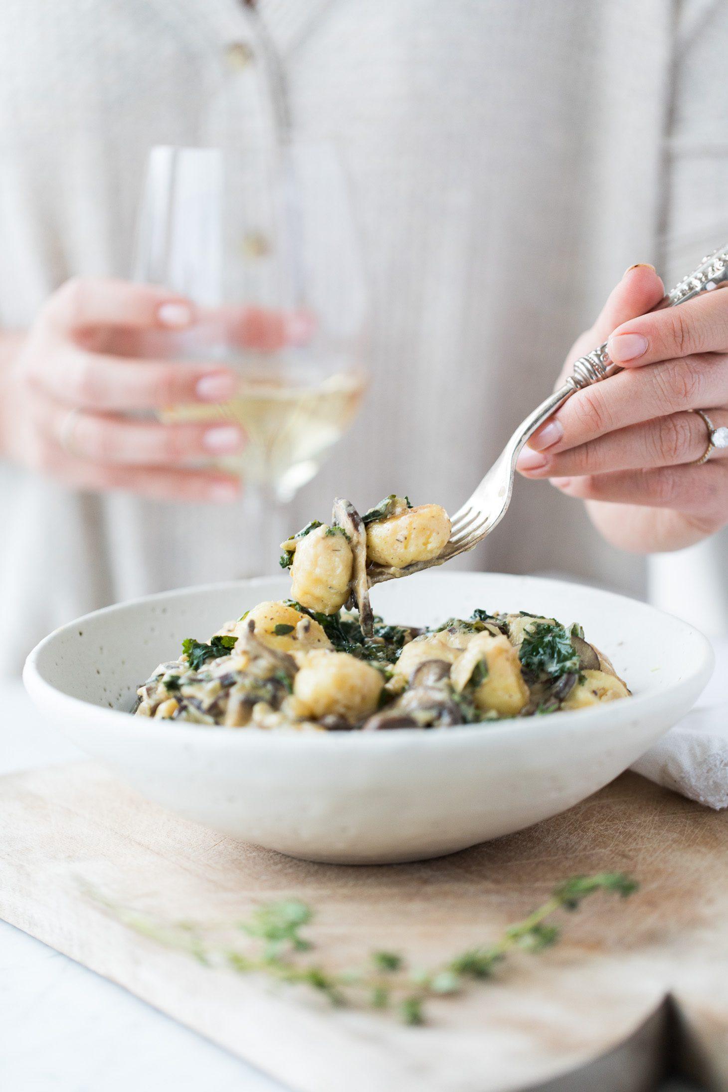 Jillian Harris Mushroom and Kale Gnocchi
