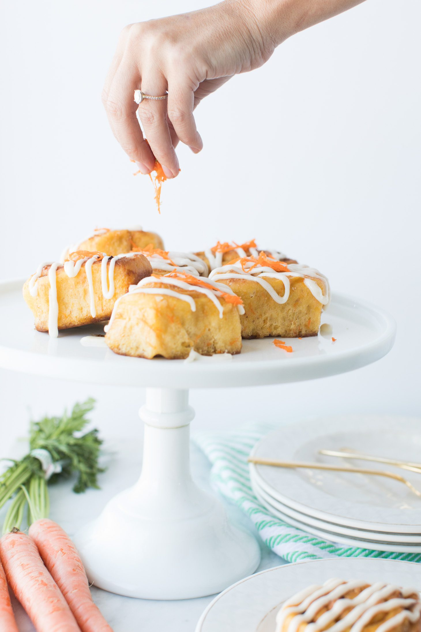 Jillian Harris Vegan Maple Carrot Cake Cinnamon Buns