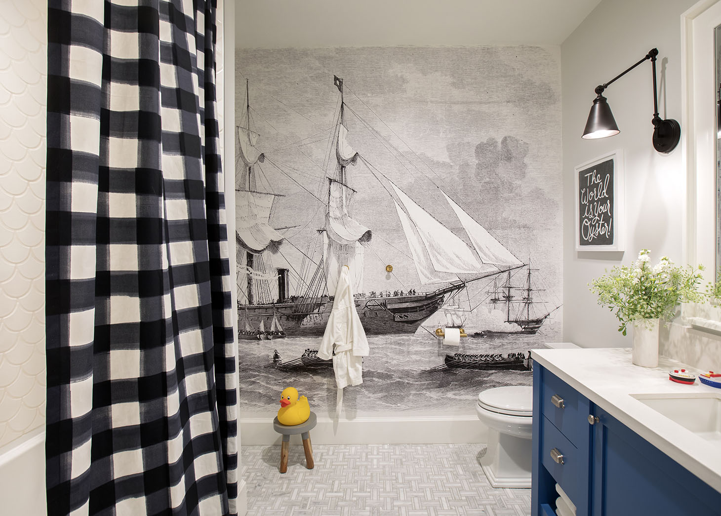 Jillian Harris Home Tour Series Leos Bathroom and Bedroom