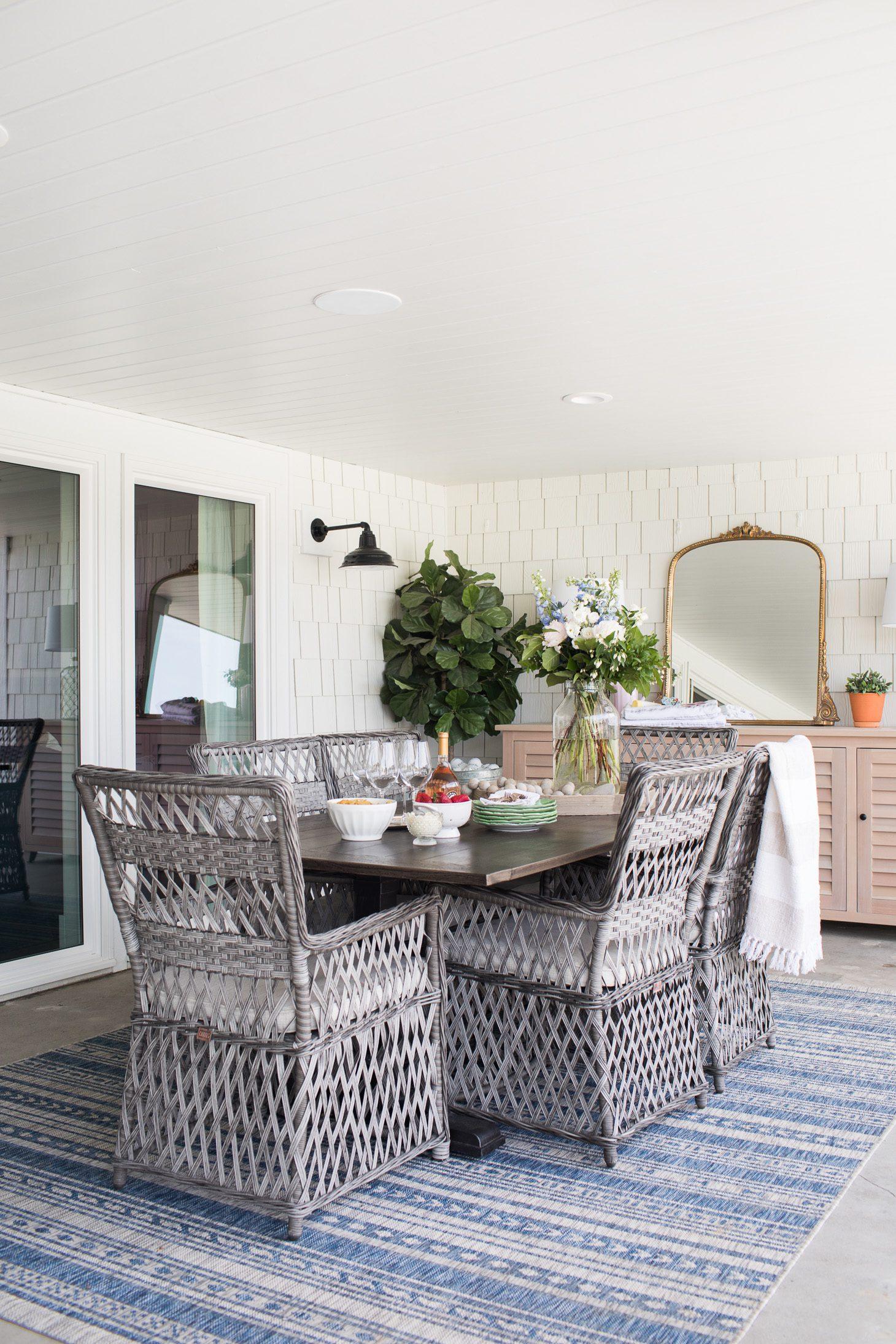 Jillian Harris Home Renovation Series Downstairs Patio