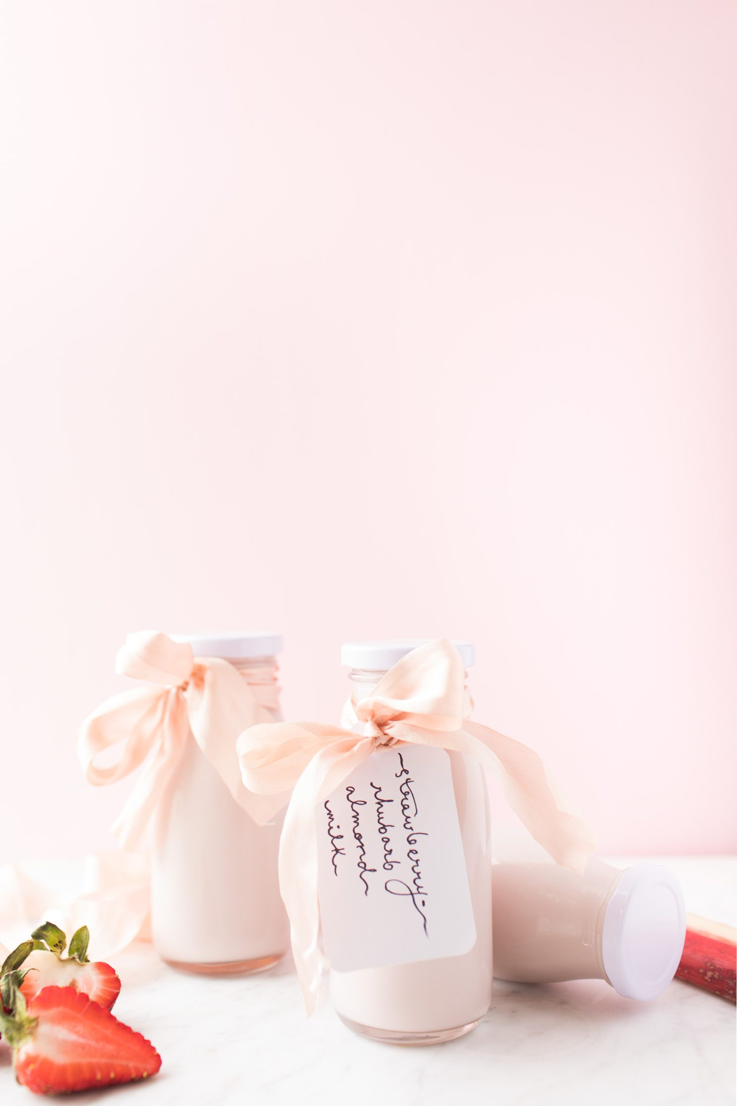 Jillian Harris Strawberry Rhubarb Almond Milk