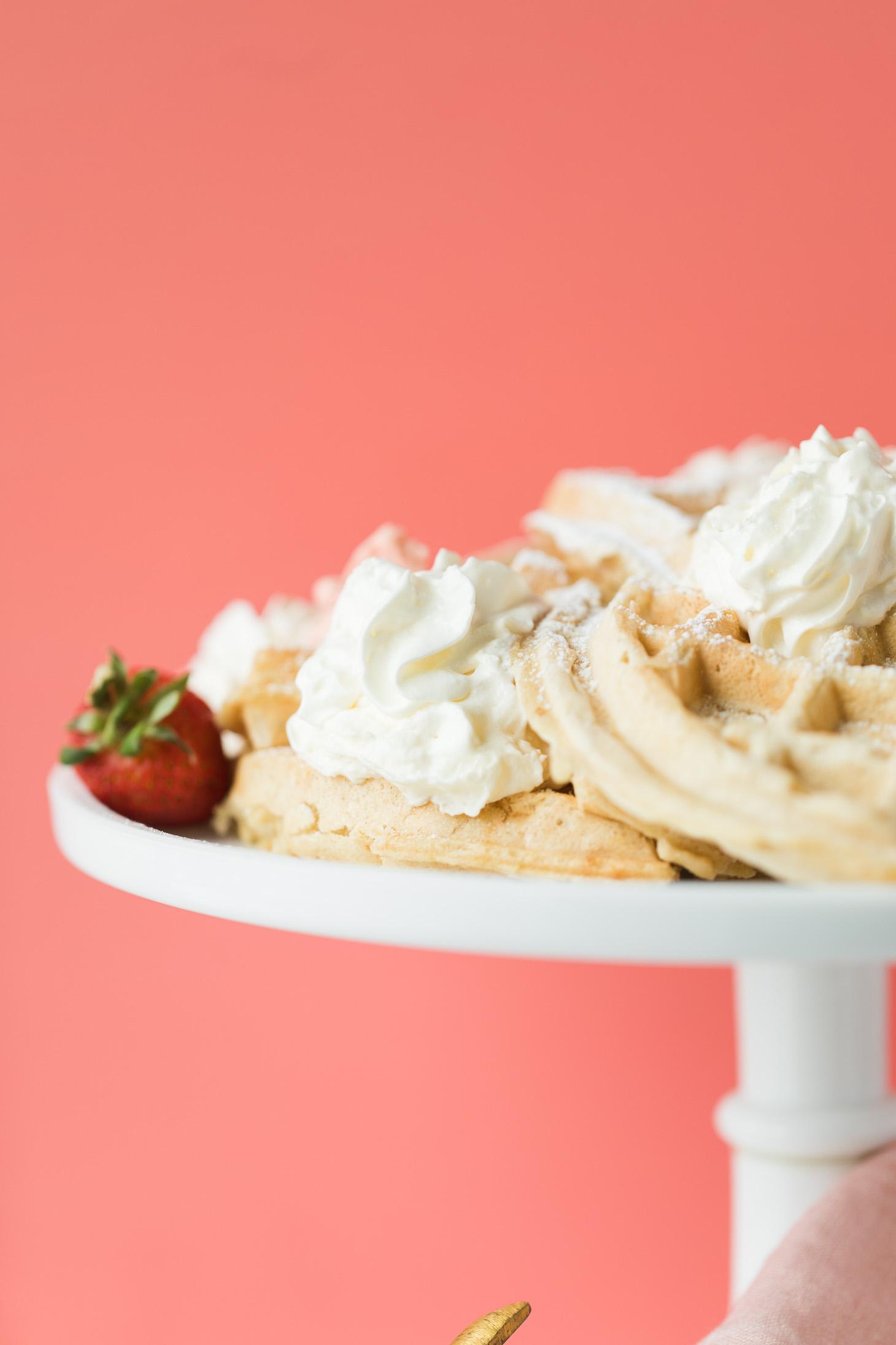 Jillian Harris Vegan Waffles and Strawberry Butter