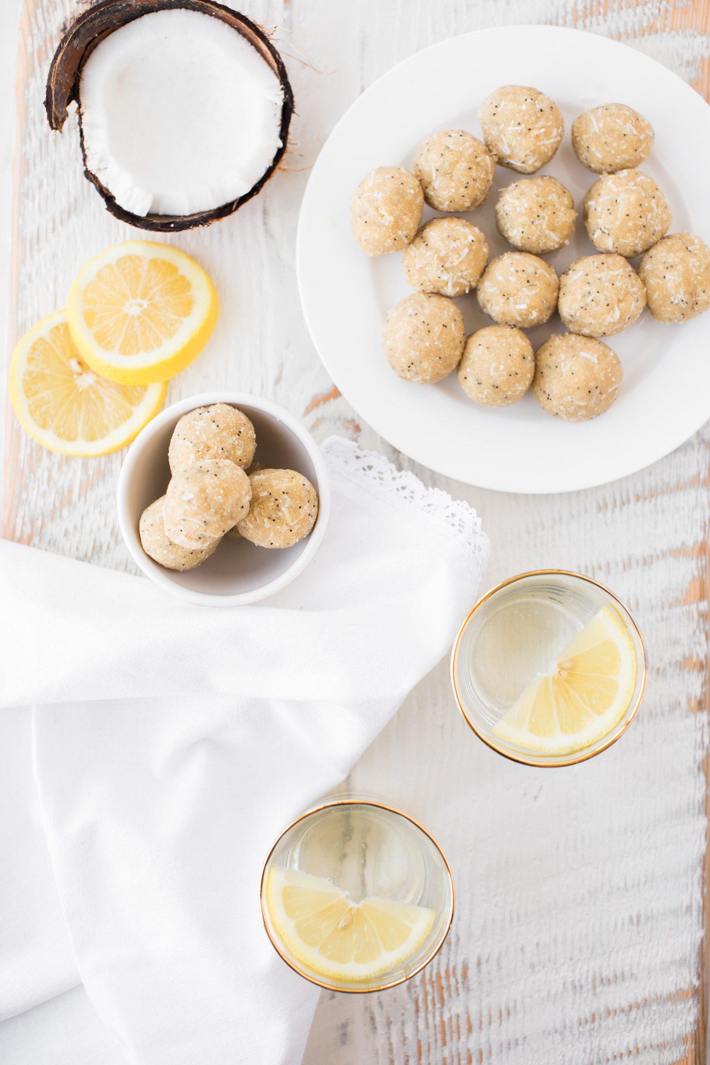 Jillian Harris Lemon Coconut Poppyseed Balls