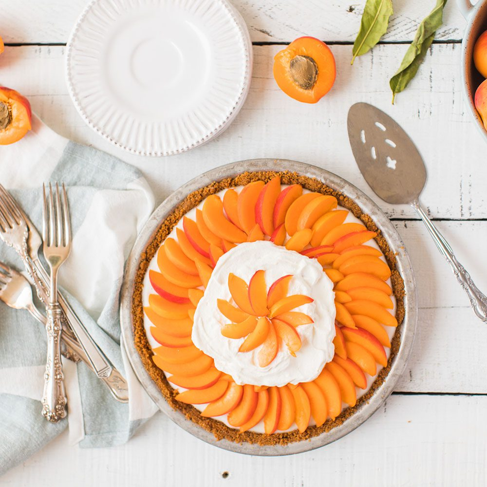 Fresh Apricot Cream Pie