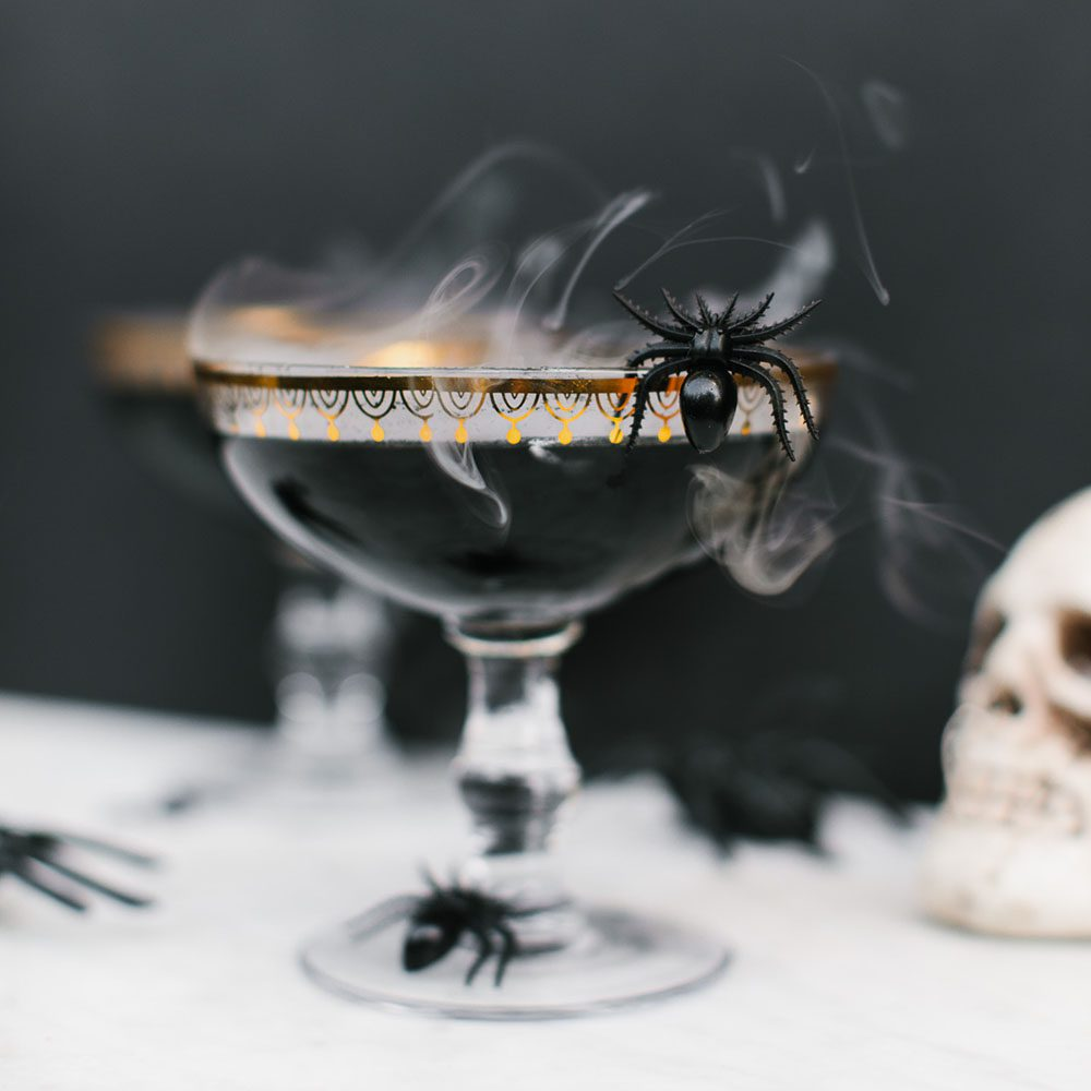 Mystical Black Widow Cocktail
