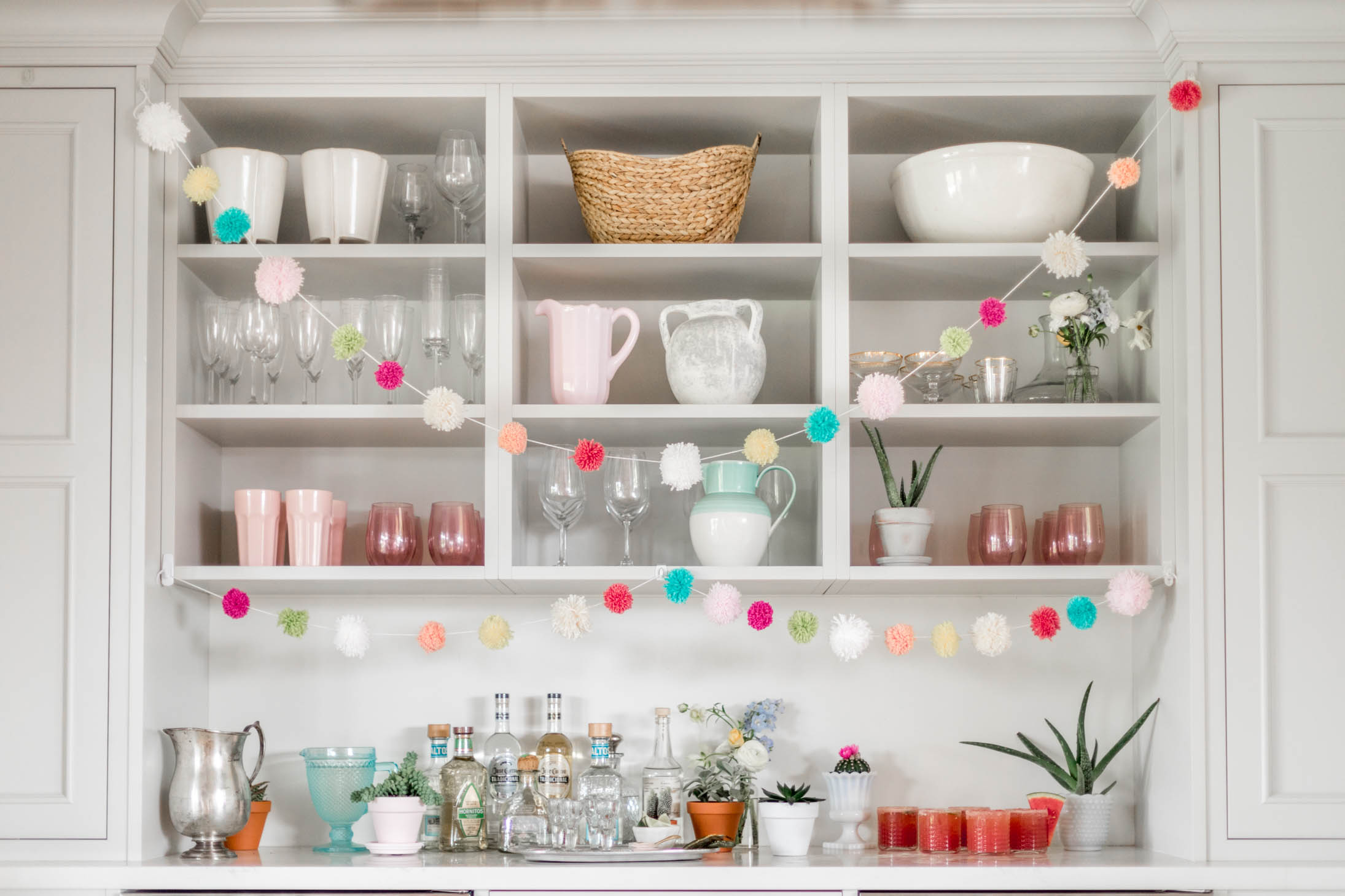 Jillian Harris Cinco De Mayo Festive Pom Pom Garland DIY