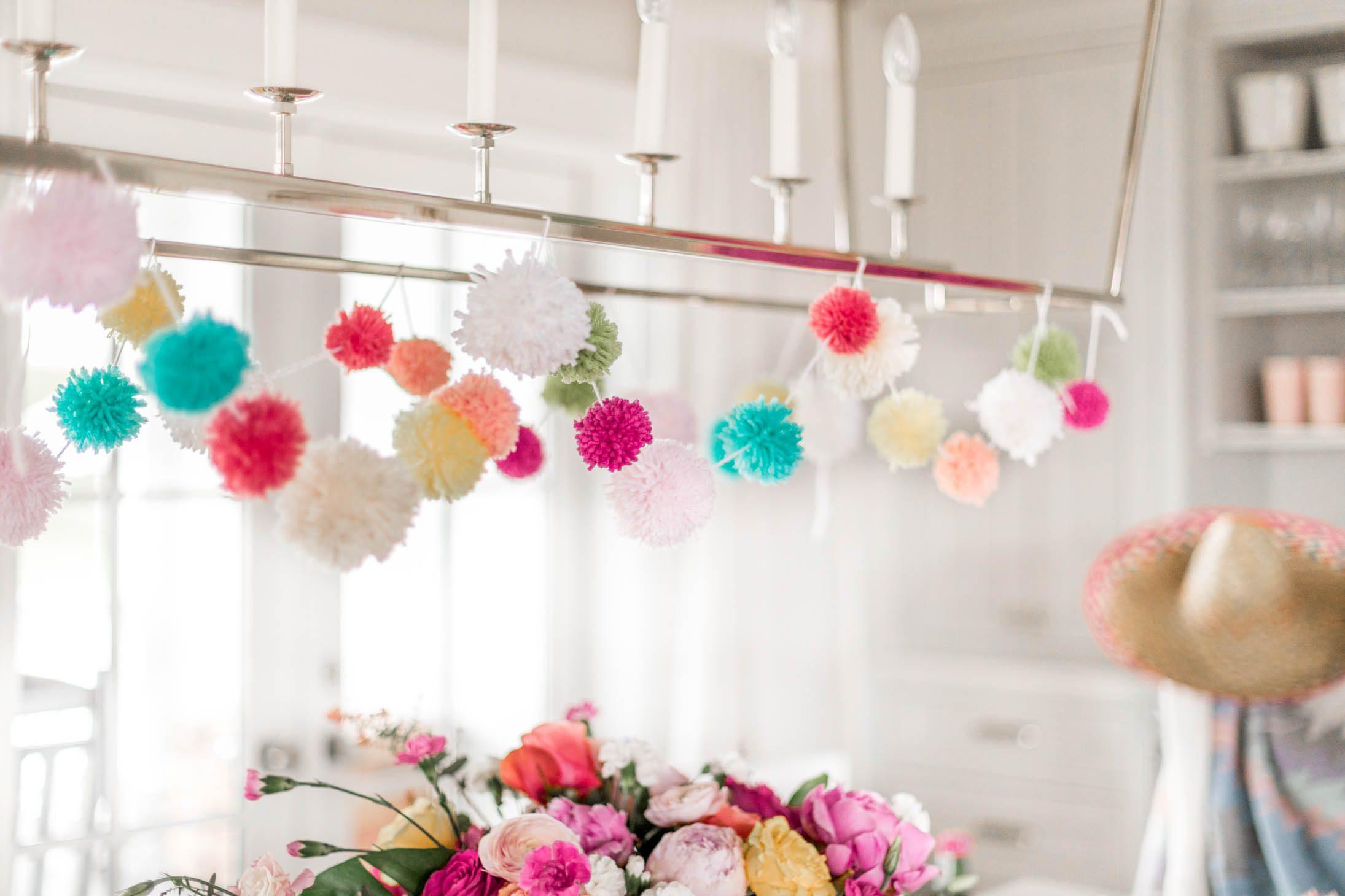 Jillian Harris Cinco De Mayo Festive Pom Pom Garland DIY