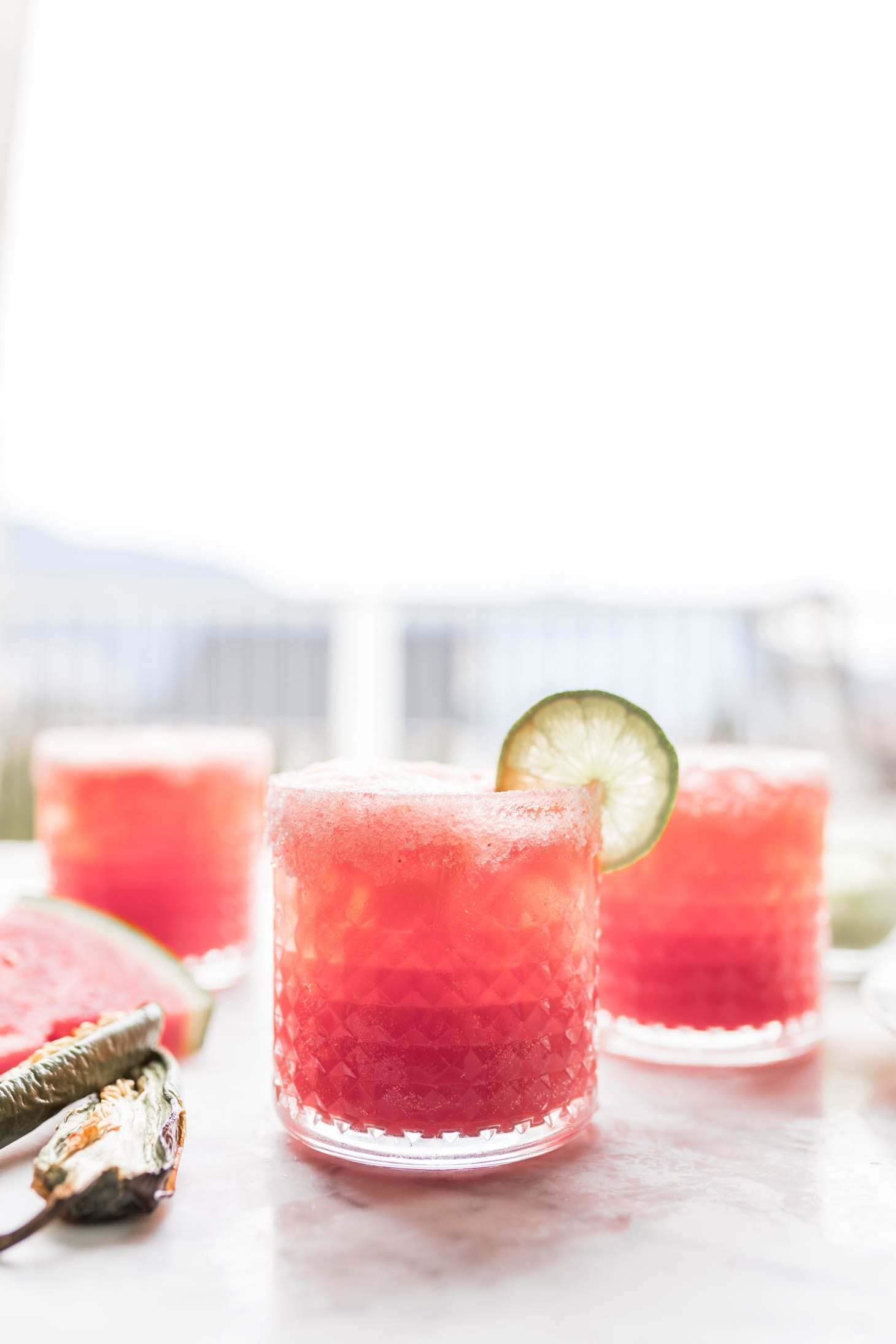 Jillian Harris Watermelon Jalapeno Margarita