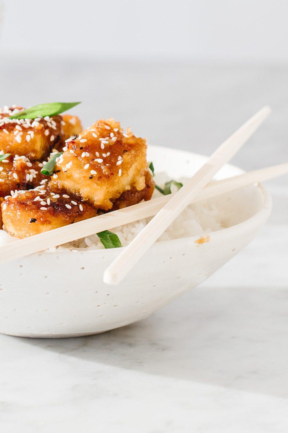 Vegan Crispy Orange Tofu Recipe Jillian Harris