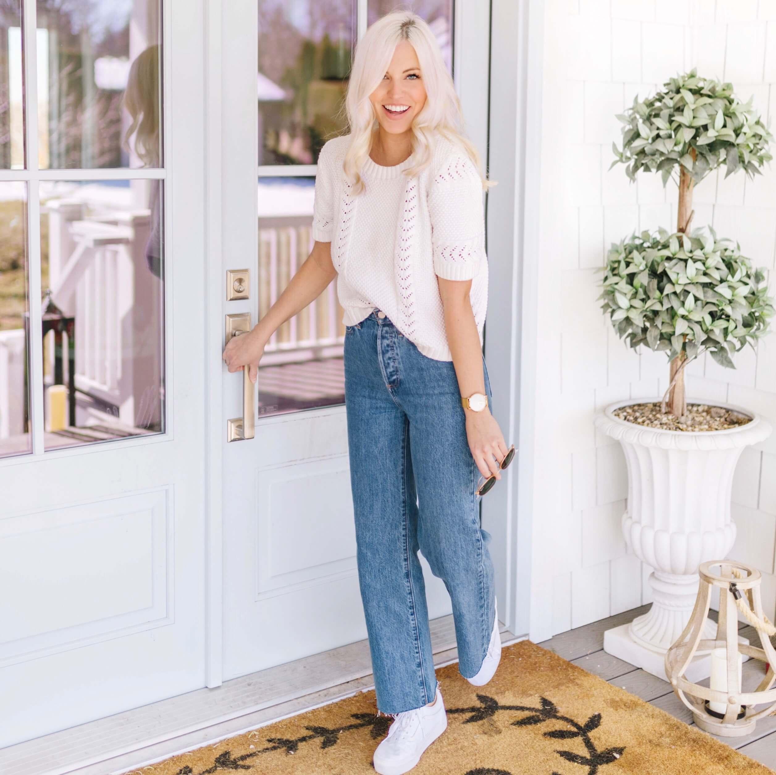 Shay Merritt styling bell bottom jeans