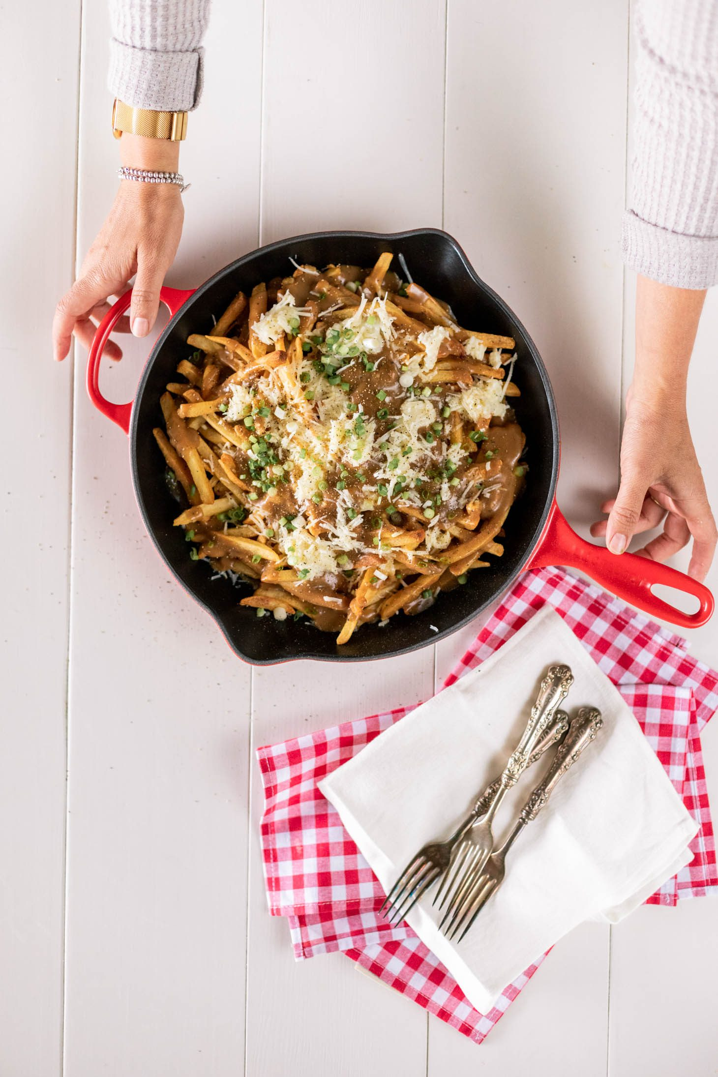 Jillian Harris Vegan Poutine