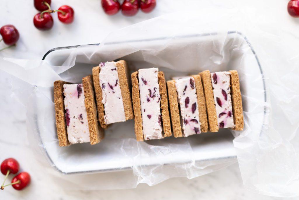 Jillian Harris Okanagan Cherry Ice Cream Sandwiches