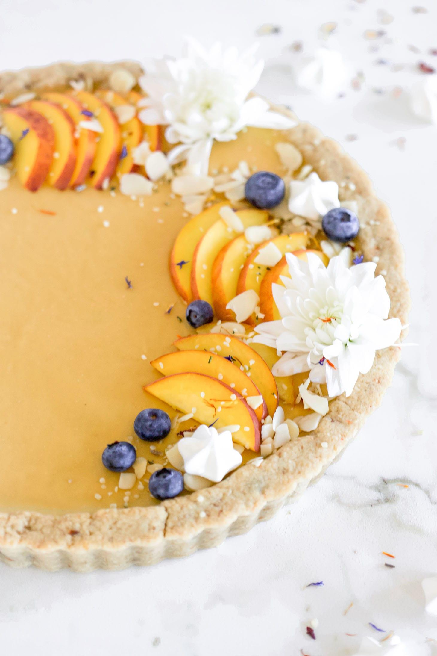 Gluten-Free Pretty Peach Tart Recipe