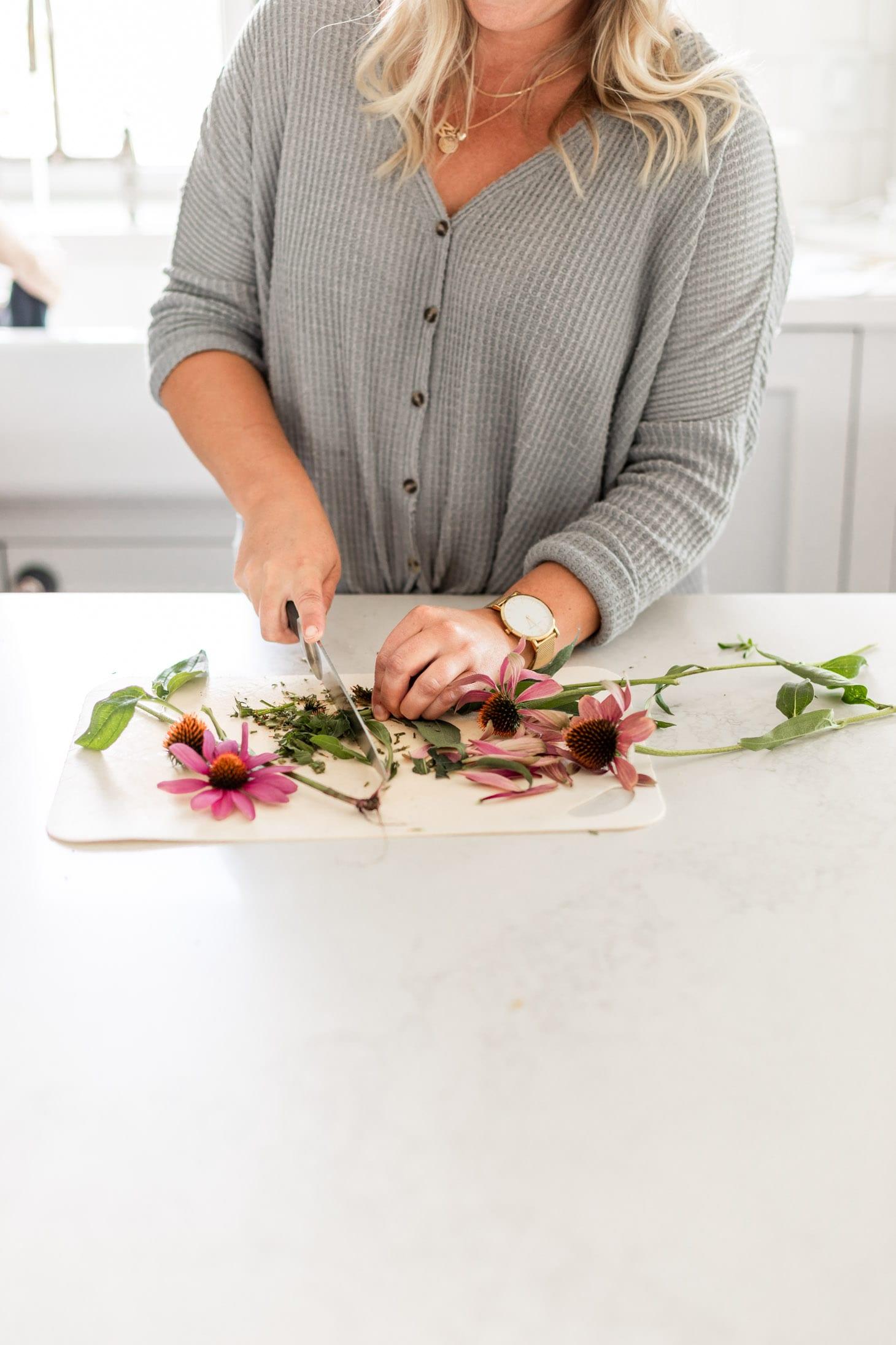Jillian Harris My Homemade Echinacea Tincture