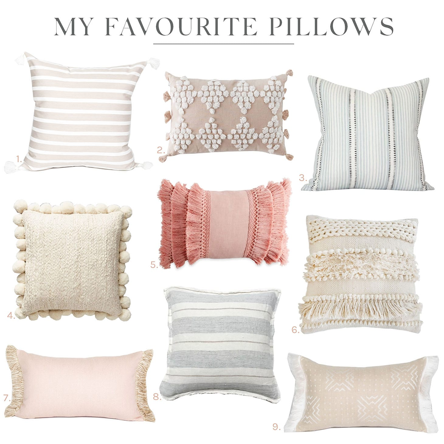 Jillian Harris Favourite Pillows