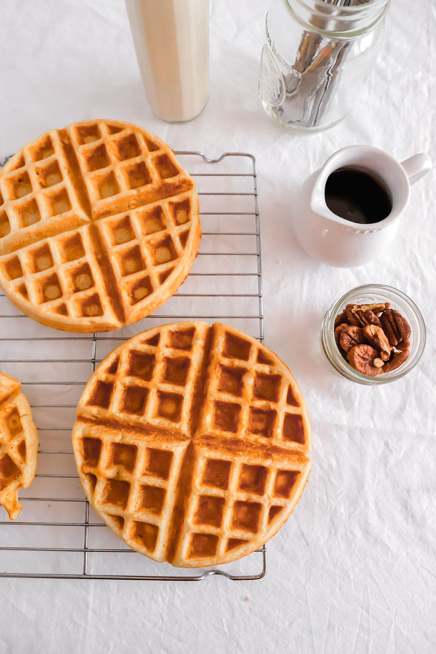Jillian Harris Spiced Apple Cinnamon Waffles