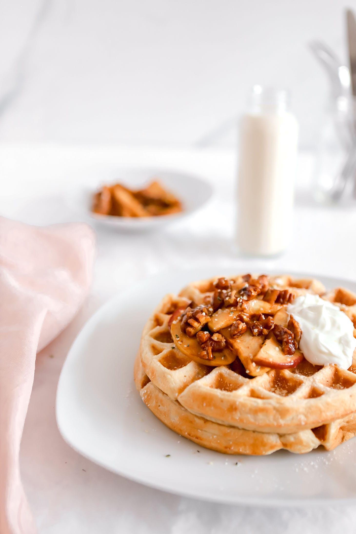 Jillian Harris Spiced Apple Cinnamon Waffles
