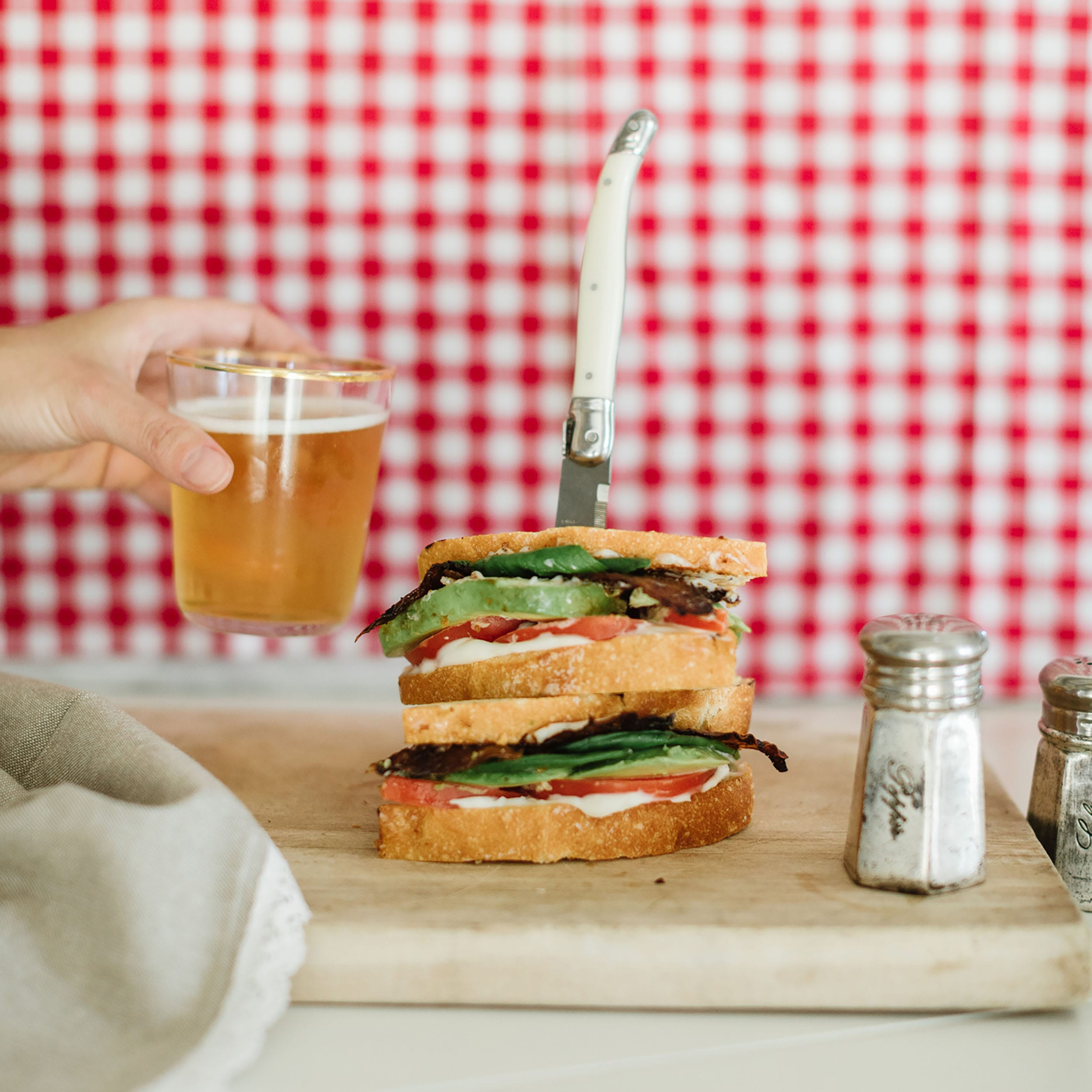 Jillian Harris Vegan Bacon Sourdough Sandwich