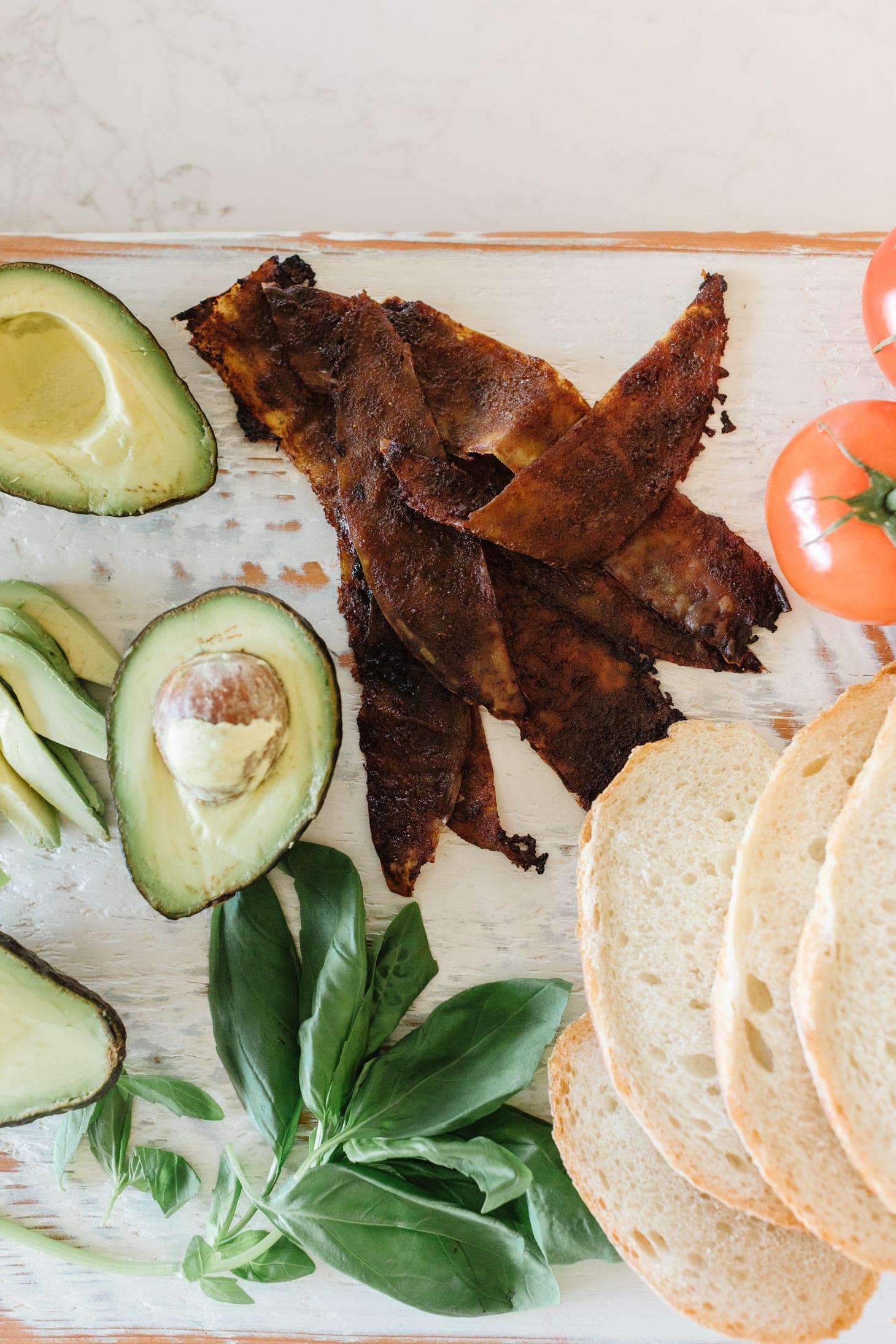 Jillian Harris Vegan Bacon Sourdough Sandwich