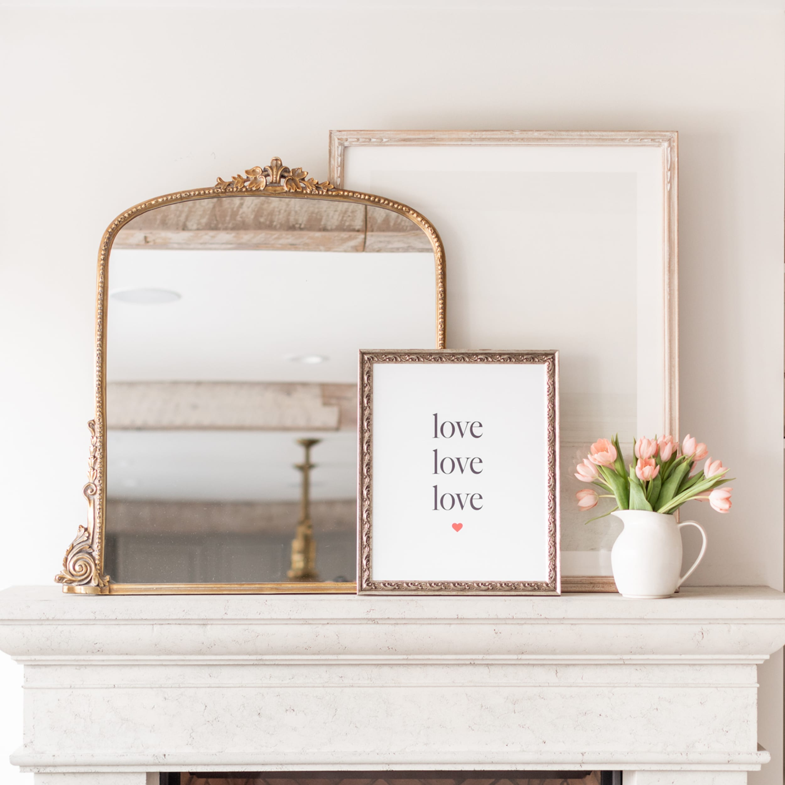 Love Love Love Print by Jillian Harris