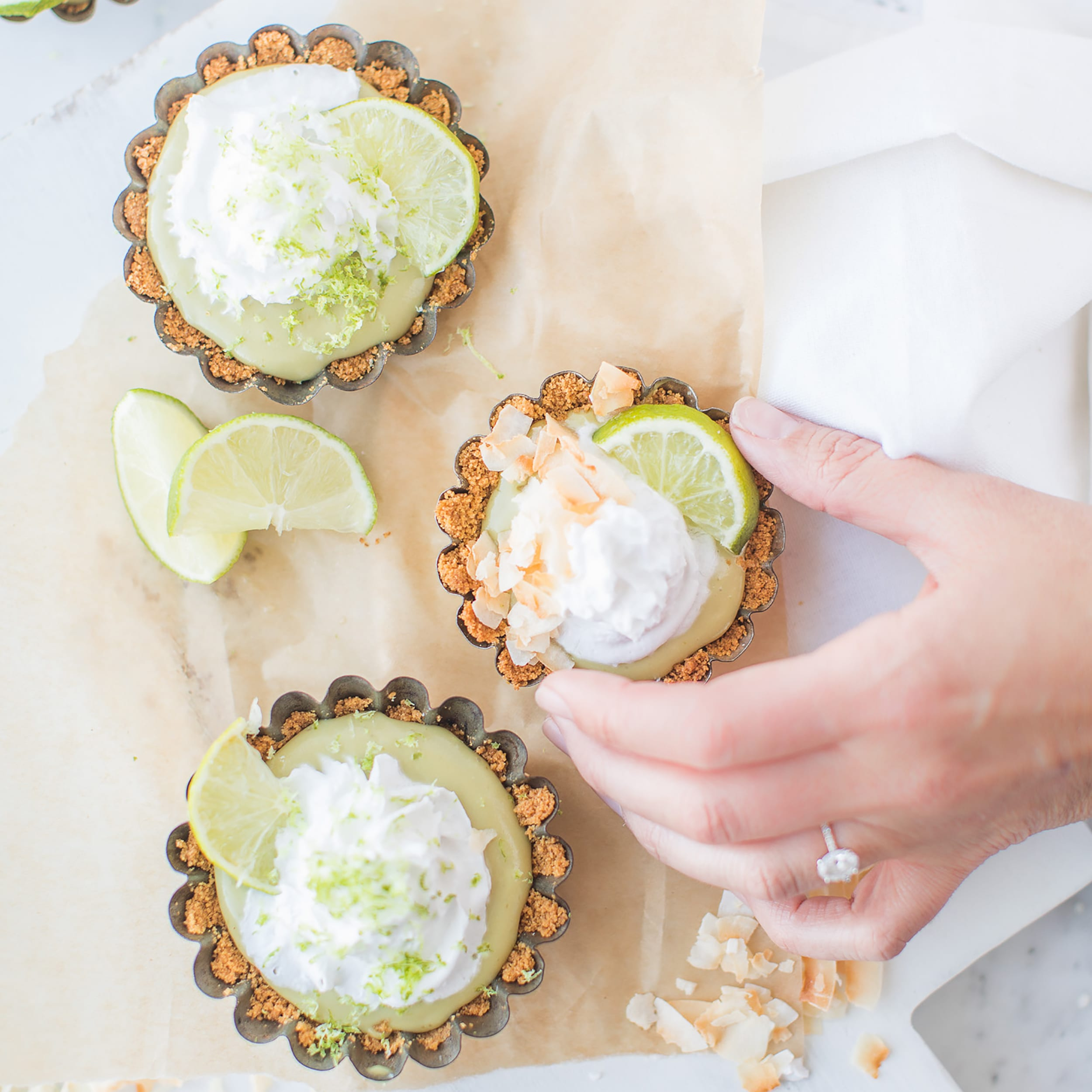 Coconut Key Lime Tartlets by Jillian Harris