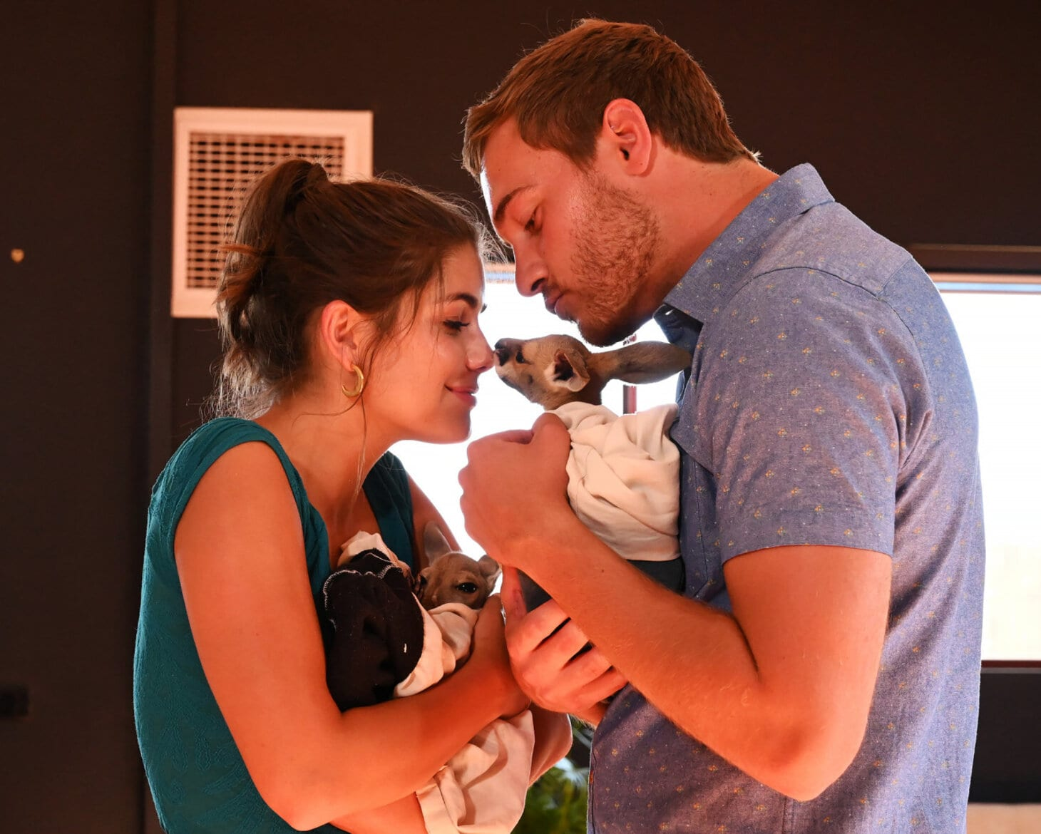 Hannah Ann and Peter with Baby Kangaroos