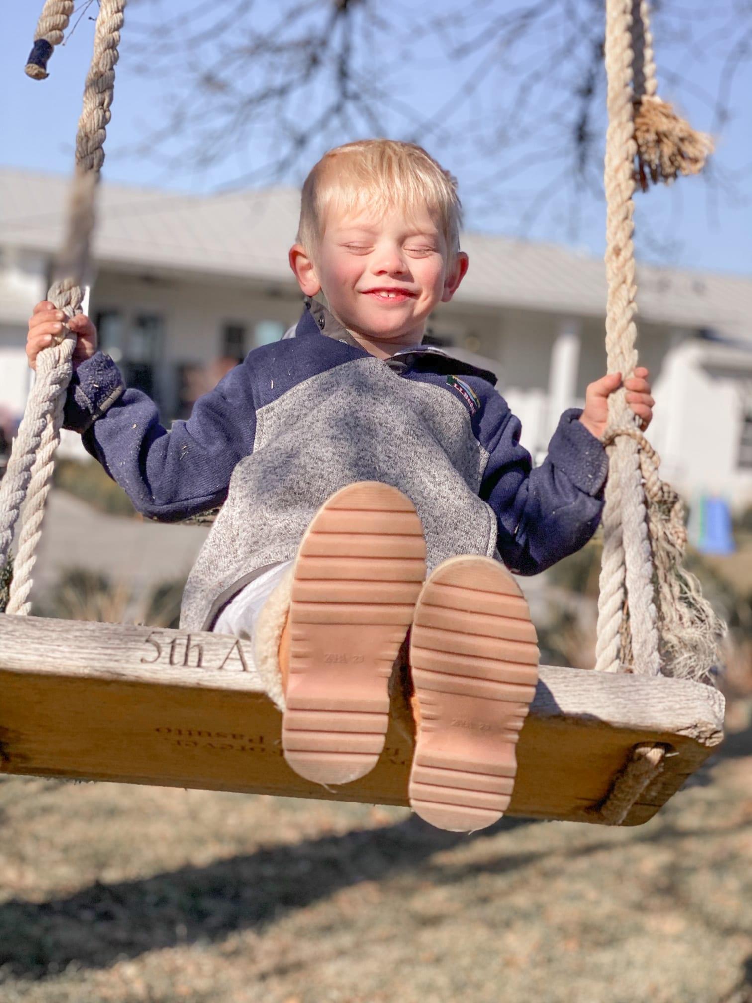 Jillian Harris' Son Swinging