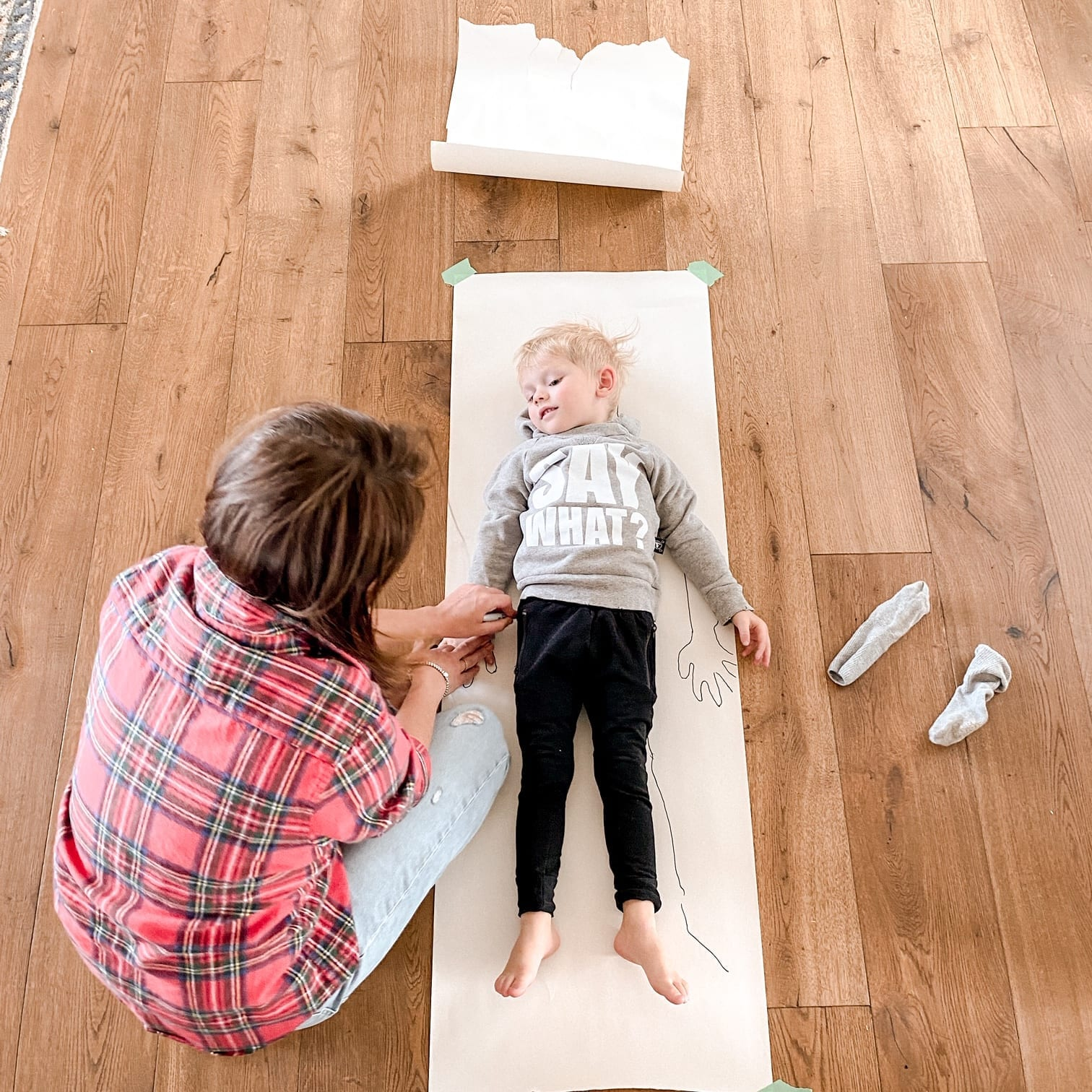 Tracing Kids On Paper