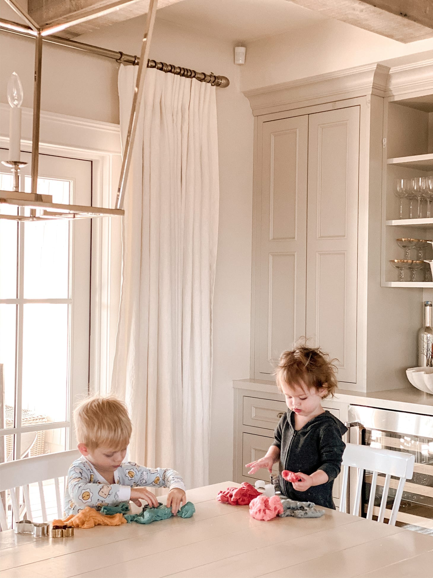 Jillian Harris' Kids Playing with Play Dough