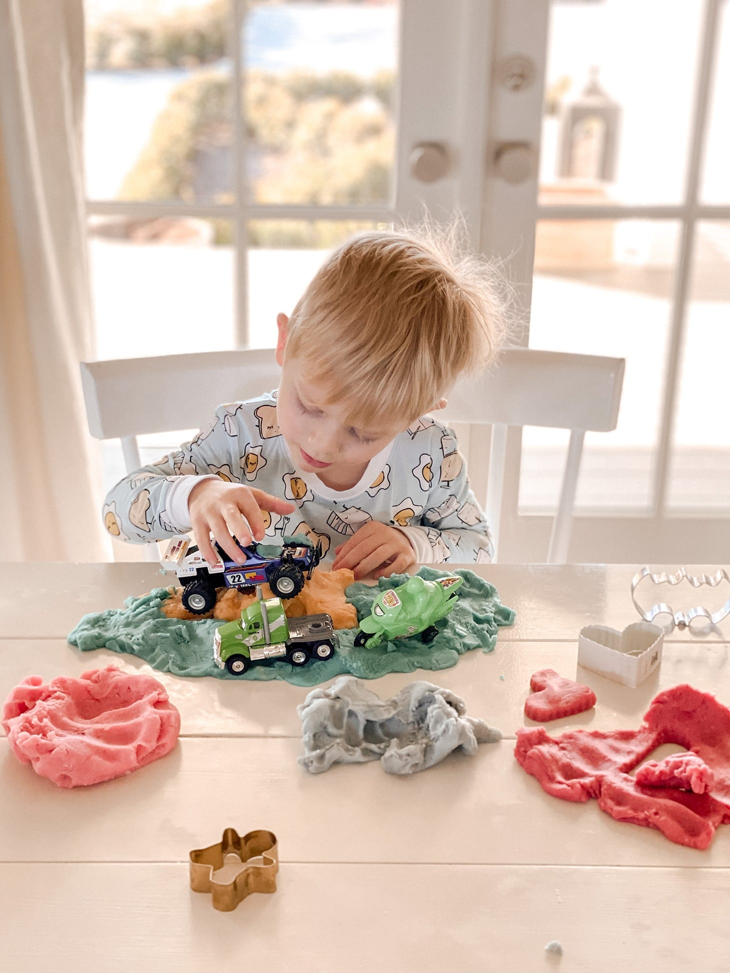 Jillian Harris' Son Playing with Play Dough