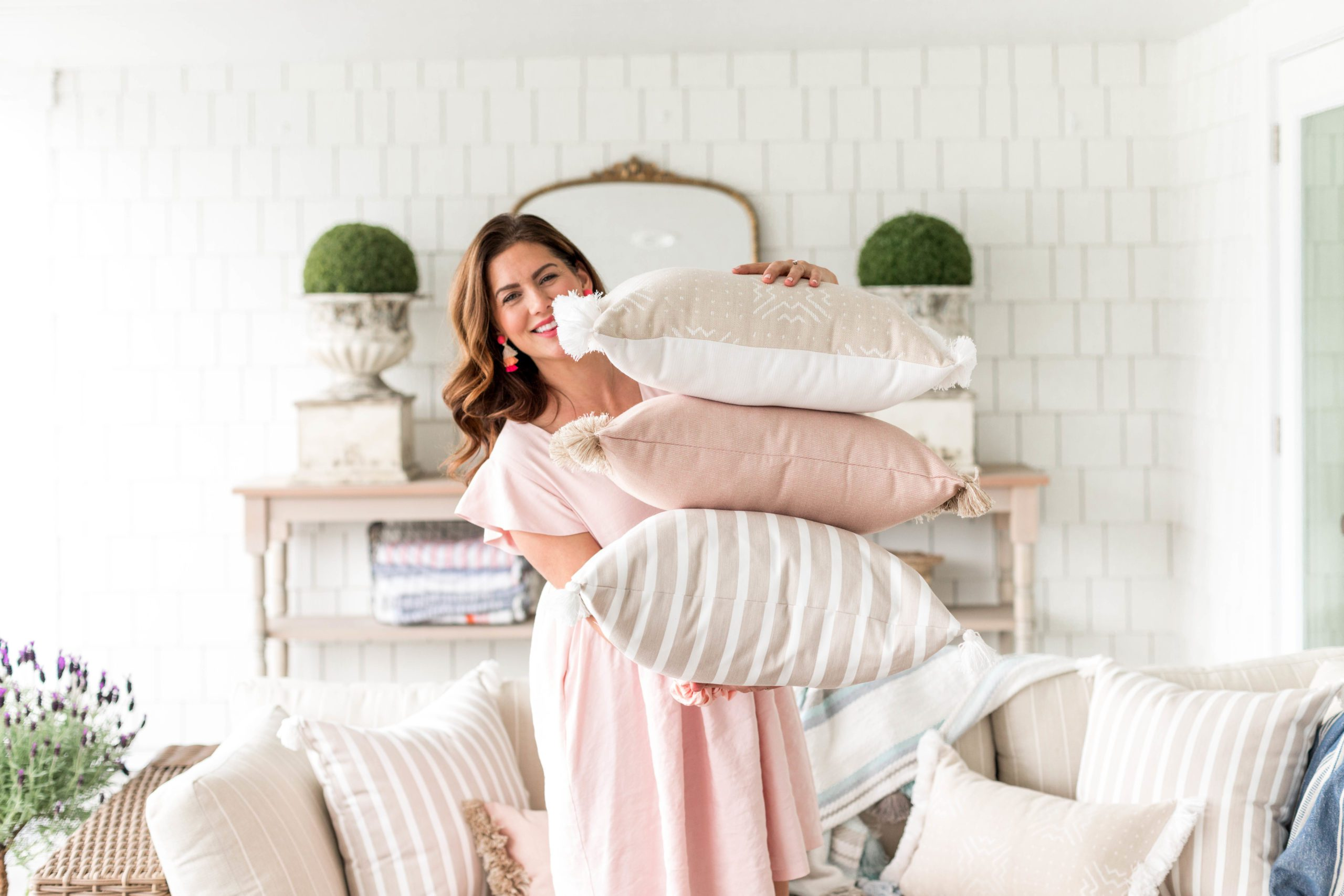Jillian Harris and Cloth and Main Pillow Collaboration