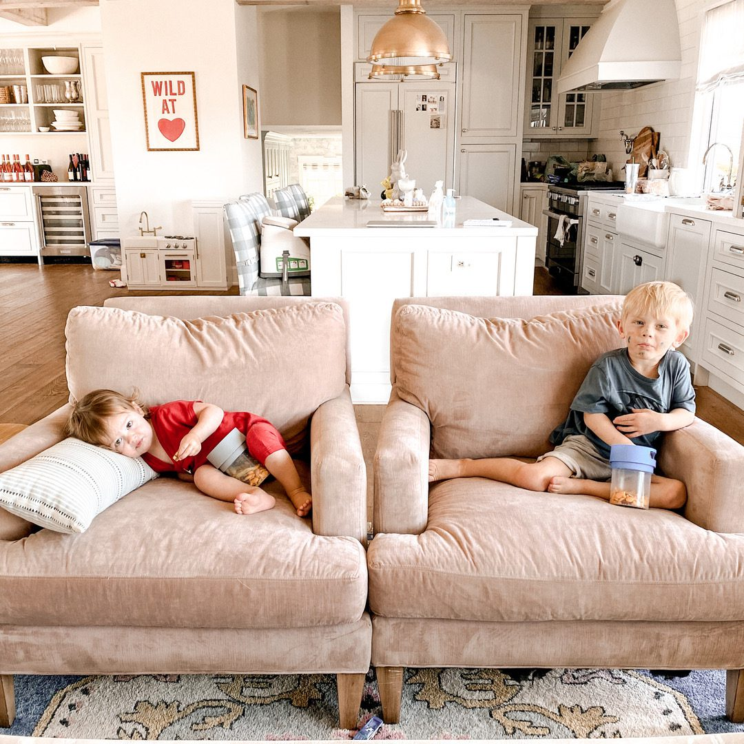 Kids Sleeping on Couch